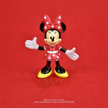 Disney Mickey Mouse Minnie 7.5cm Model Anime Doll PVC Action Figures Accessories Figurines Toys For Kids Gift Children Toy