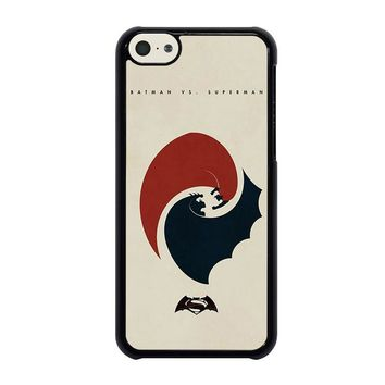 SUPERMAN VS BATMAN YIN YANG iPhone 5C Case Cover