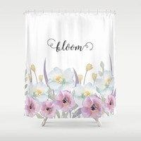bloom Shower Curtain by Sylvia Cook Photography