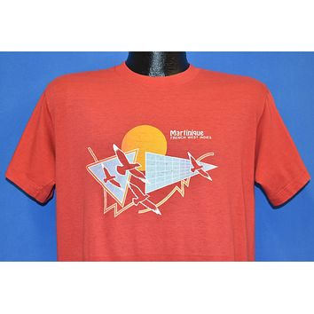 70s Martinique French West Indies Birds Sunset t-shirt Large