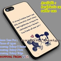 Mickey Minnie Quote iPhone 6s 6 6s+ 5c 5s Cases Samsung Galaxy s5 s6 Edge+ NOTE 5 4 3 #cartoon #animated #disney #MickeyMouse dl7