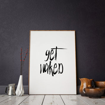 PRINTABLE Art Bathroom Wall Decor,Bathroom Printable Art,Get Nak