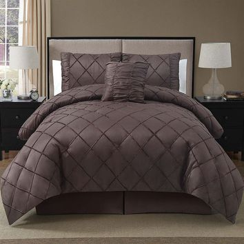 Victoria Classics Santiago 4-pc. Comforter Set (Brown)