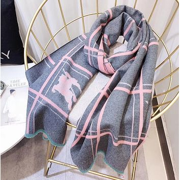 Perfect Burberry Women Wool Scarf Shawl Scarf
