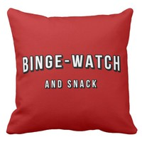 Movie Tv Night Binge Watch and Snack Throw Pillow