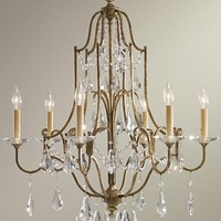 Oxidized Bronze Valentina Collection 6 Light Traditional / Classic Chandelier - Valentina Collection - Murray Feiss (F24786OBZ)