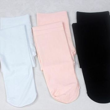 Fashion Nude Black White Footless Kid Tights Nylon Leggings Girls Children Ballet Dance Pantyhose 80D