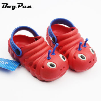 Baby Shoes New Arrival Kids Slodes EVA Cute Cartoon Caterpillars Pattern Breathable Shoes Baby Boy Girl Beach Summer Wear
