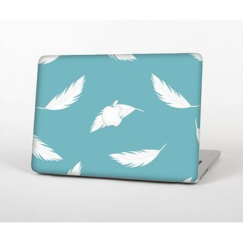 The Simple White Feathered Blue Skin Set for the Apple MacBook Air 11""