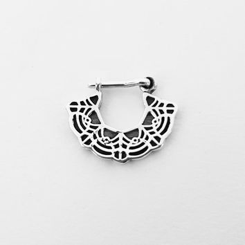 Septum Ring - Sterling Silver Nose Ring - Lace Septum Ring - Septum Jewelry