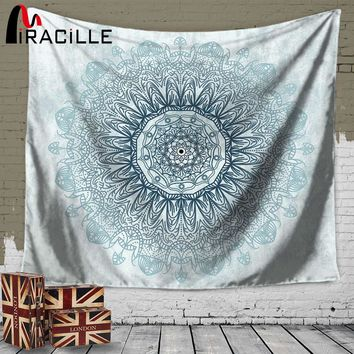 Miracille Mandala Tapestry Home Wall Art Hanging Indian Mandalas Blanket Belgium Decoration for Bedroom Dorm Yoga Mat Tablecloth