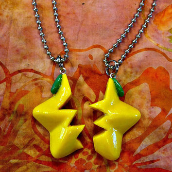 SALE Kingdom Hearts Paopu Fruit Friendship Necklaces- Slight Defects