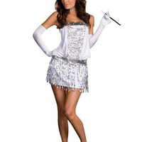 Sexy Silver Flapper Costume