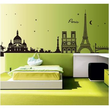 Paris At Night Wall Mural