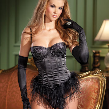 Feather Lined Bustier