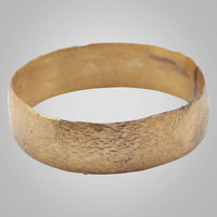 Ancient Viking Wedding Band Jewelry C.866-1067A.D. Size 8 1/4   (17.8mm)(Brr886)