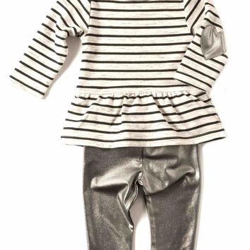 Appaman Peplum Onesuit Set in Saturn Stripe
