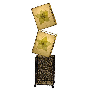 Cube Large Floor Lamp Green Wrought Iron