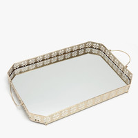 Mirrored tray with handles - DECOR ACCESSORIES - DECORATION | Zara Home Australia