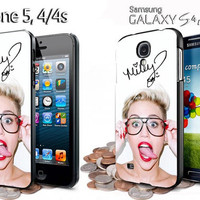 miley cyrus twerking and signature iphone 4 /4S / 5 case samsung galaxy S3 / S4 case