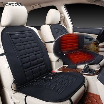 VORCOOL 2pcs Heated Car Seat Cushion Cover Temperature Control Heating Pad Cushion Cover  Warmer Seat Covers For Auto Car SUV