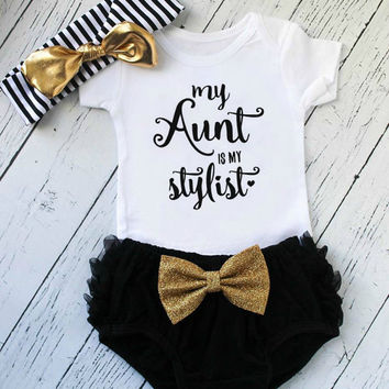 baby girl clothes - new aunt gift - baby girl outfit - my aunt is my stylist - gift for aunt - toddler girl clothes - cute baby tops