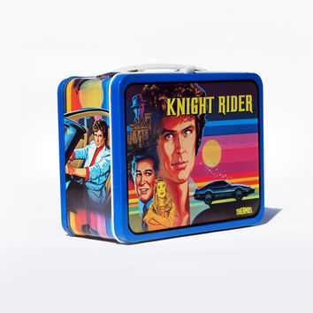 Knight Rider Thermos Lunch Box looks almost new vintage 80's metal lunchbox