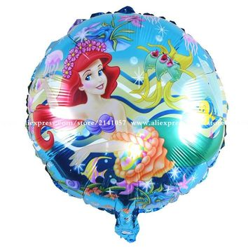 30pcs/lot The Little Mermaid foil balloons Ariel of cartoon kitty & masha ballon helium kids birthday decor globos party supplie