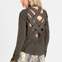 Truth Be Told Cut Out Blouse - $36.00: ThreadSence, Women's Indie & Bohemian Clothing, Dresses, & Accessories