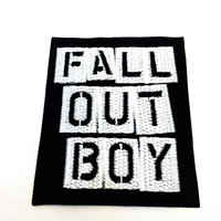 FALL OUT BOY Embroidered Easy Iron On Rock Band Patch
