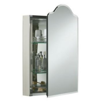 Kohler Single Door 20 Inch Aluminum Cabinet with Vintage Mirrored Door | www.simplymirrors.com