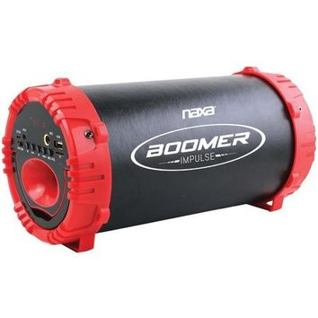 Naxa Boomer Impulse Led Bluetooth Boom Box (red) (pack of 1 Ea)