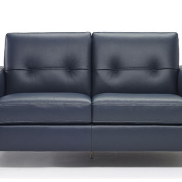 Po Leather Loveseat by Natuzzi Editions