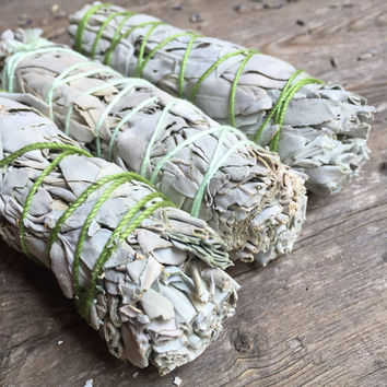 Sage Bundle Cleansing Sage Sage Stick Smudge Stick Smudge Wand Spiritual Healing Herbs Natural Cleansing Crystal Cleansing
