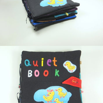 Colored book / Soft book for toddlers / Developing book / quiet book / busy book / fine motor skills book / education toy / textile book