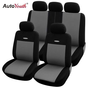 High Quality Car Seat Covers Universal Fit Polyester 3MM Composite Sponge Styling Lada