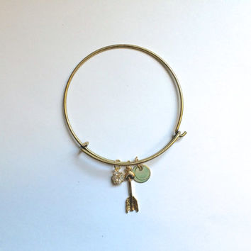 Gold Arrow Bangle *Alex and Ani Inspired* *PRE-ORDER*