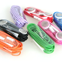 Colorful Earphone Headphones with Remote Mic for iPhone/iPad from 1Point99.com