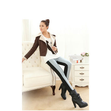 Women Gray Cotton Blends Leggings