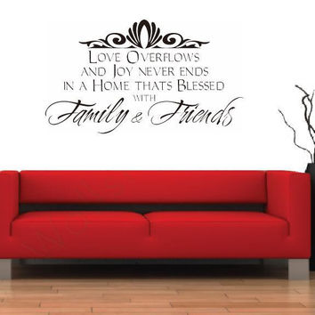 Word Family And Friend Room Decor Art Decals Removable PVC Wall Sticker SM6