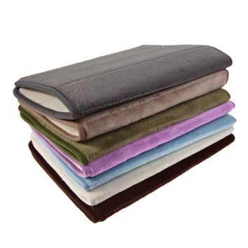 Memory Foam Floor Bath Mat Coral Velvet Anti-slip Bathroom Rug Magnificent Stripe And Fluff Fleece High Absorbency Carpet