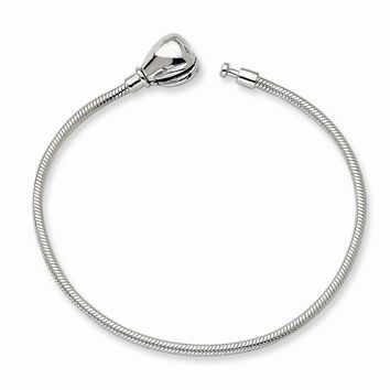 Sterling Silver 20cm Reflections Kids Hinged Clasp Bead Bracelet