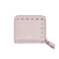 Valentino Women's Nude Rockstud Leather Wallet