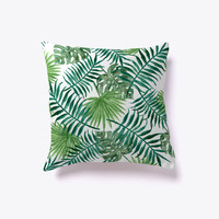 Watercolor Palm Tree Leaves Pattern