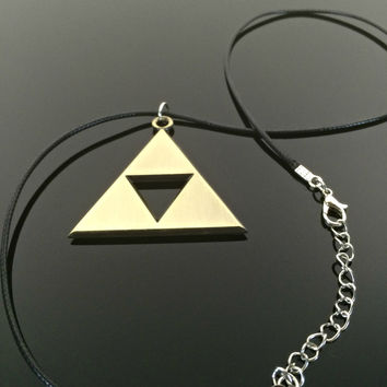 Zelda Triforce Necklace Tri Force Legend of Zelda Gift Legend Zelda Jewelry