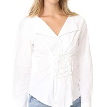 Molly Lace Up Blouse