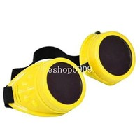 Welding Cyber Goggles Lens Goth Steampunk Style Cosplay Antique Victorian Spikes