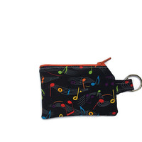Music Coin Purse, Kids Change Pouch, Keyring Change Bag