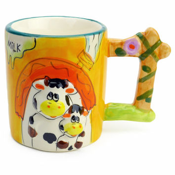 Mug with Sound of Animal: Cow & Calf