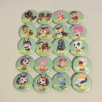 Nintendo, Animal Crossing, Characters, Single, 1.25 Inch Button